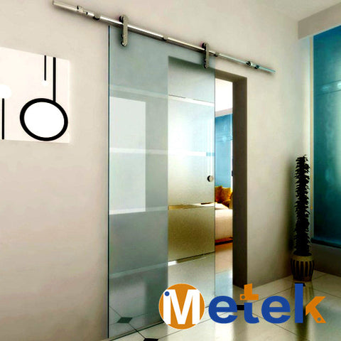 Stainless steel sliding shower glass door- roller