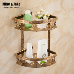 Antique Bathroom Shelf - aluminum double layer