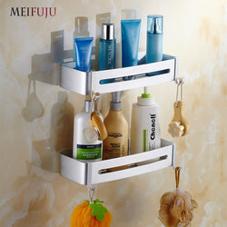 Aluminum Bathroom Shel:f cosmetic rack with 1-3 layers corner shelf