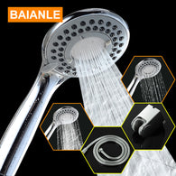 Three-Function ABS Chrome Finish Water Saving High Pressure Plastic Shower Head