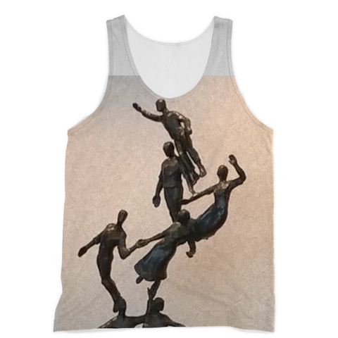 A tank designed specifically for sublimation, ideal for making one-of-a-kind designs with an ultra-soft-to-the-touch feel. 100% Polyester Jersey construction.
