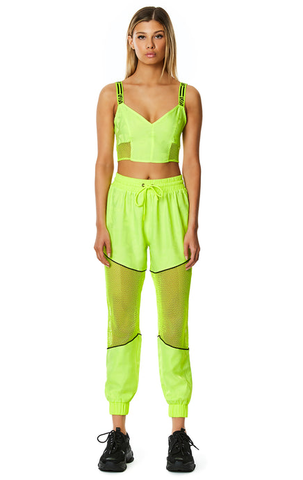 DIGITAL NEON WINDBREAKER BRA TOP