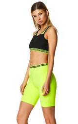 NET INSERT CROP TOP