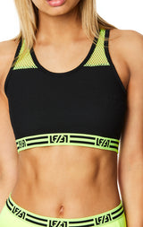 DIGITAL NEON NET INSERT CROP TOP