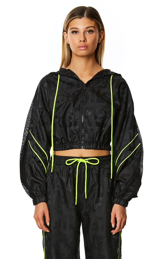 CROP WINDBREAKER JACKET