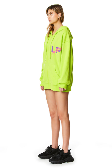 240 OVERSIZED ZIP FRONT SWEATSHIRT