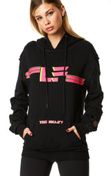 PULLOVER SWEATSHIRT WITH SLEEVE INSERT