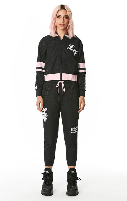 WINDBREAKER PANT WITH EMBROIDERY