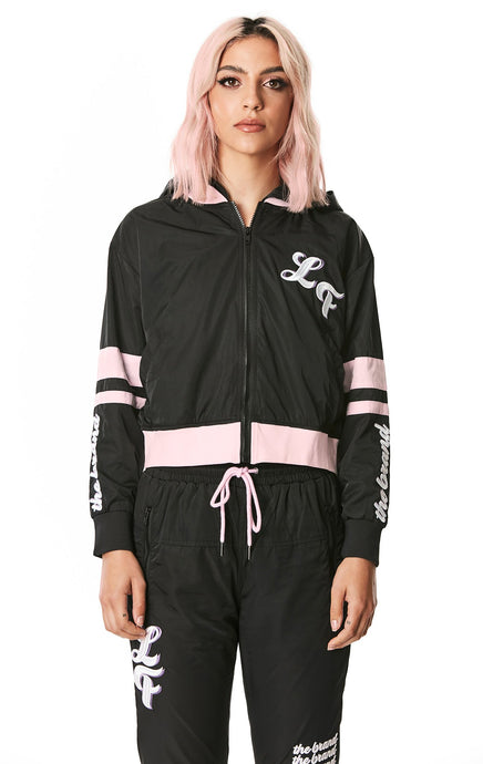 HOODED WINDBREAKER JACKET WITH HOOP SLEEVE