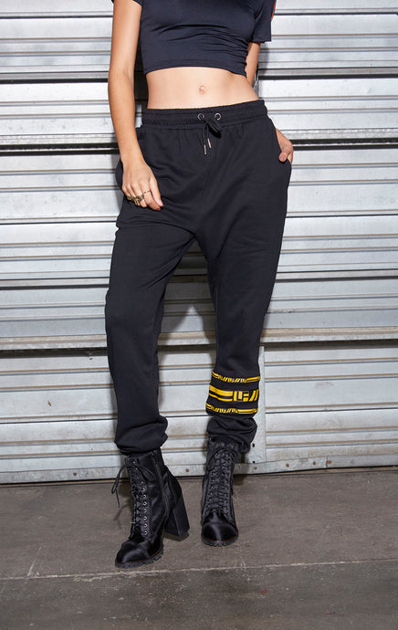 SWEATPANT WITH TAPE HOOPS