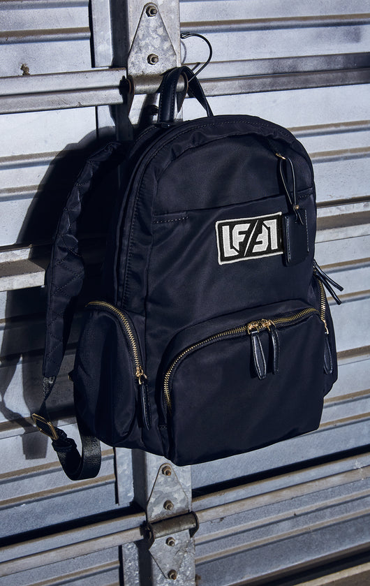 NYLON BACKPACK WITH LF PATCH