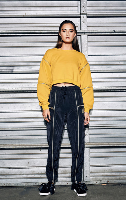TRACK PANT WITH MULTI EXPOSED ZIPPERS