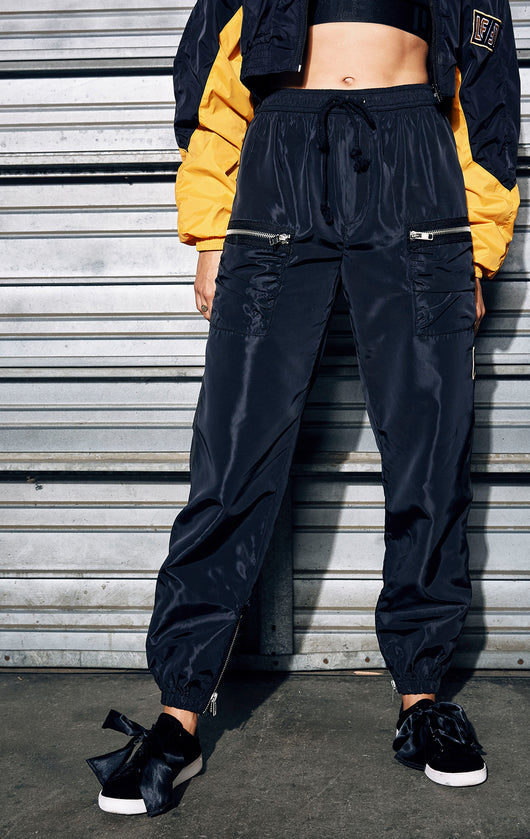 EXPOSED ZIPPER TRACK PANT