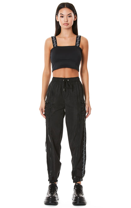 VERTICAL ZIPPER WINDBREAKER PANT