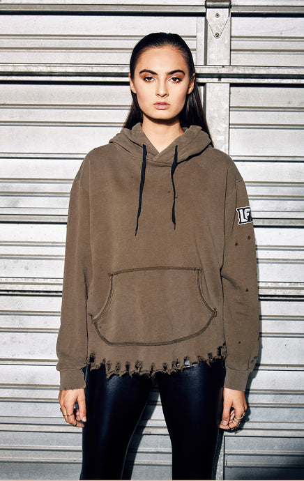 DESTROYED HOODED SWEATSHIRT
