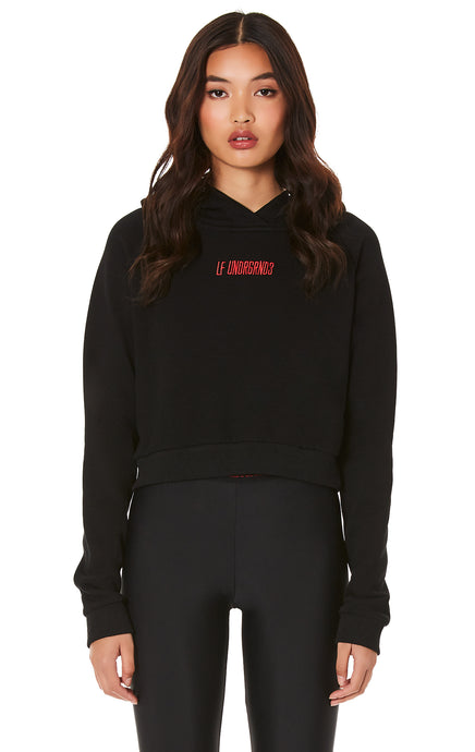 CROPPED HOODIE WITH EMBROIDERY