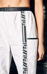 WHITE TRACK PANT WITH LF TAPE
