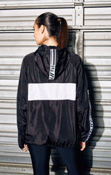 COLORBLOCK PULLOVER WINDBREAKER WITH WHITE LF TAPE