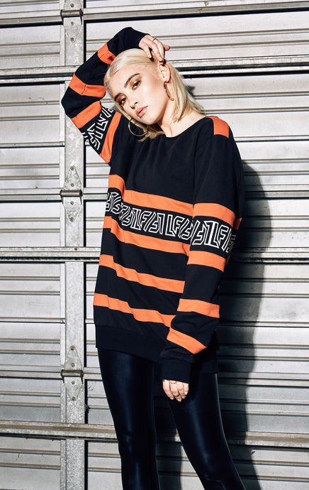 STRIPED SWEATSHIRT WITH LF GRAPHIC