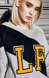 LONG SLEEVE COLORBLOCK PULLOVER WITH LF VARSITY LETTERS