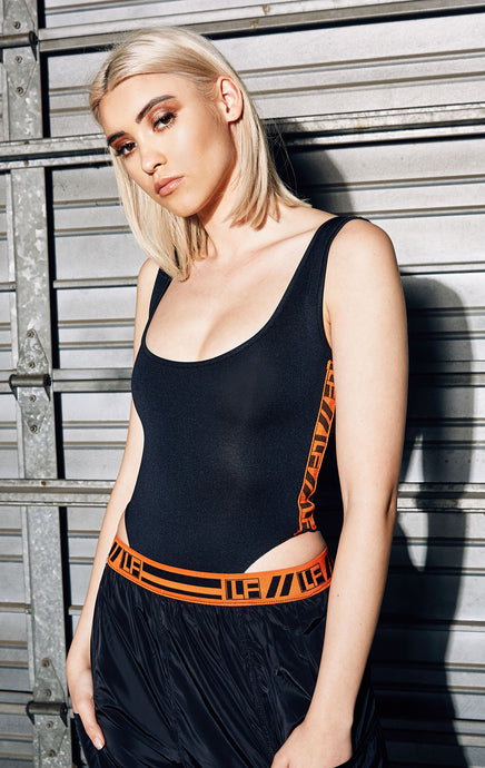 HI CUT TANK BODYSUIT WITH LF TAPE