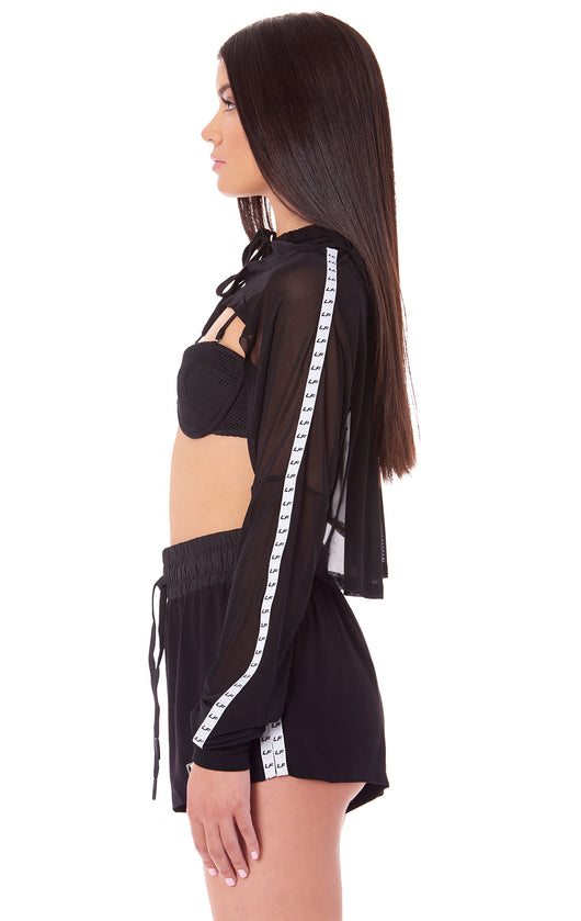 0f09ae46595ad CROP MESH LONG SLEEVE TOP WITH LF BLOCK TAPE ON SLEEVES – LF The Brand