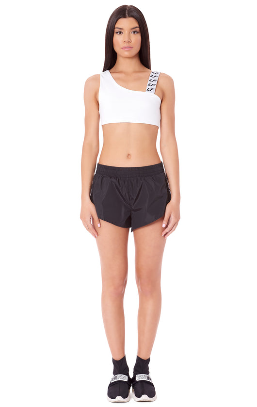SMOCKED WAISTBAND ATHLETIC SHORT WITH LF BLOCK TAPE