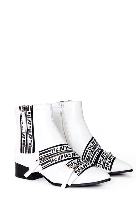 OLAF ANKLE BOOTIE WITH LF TAPE ZIPPERS