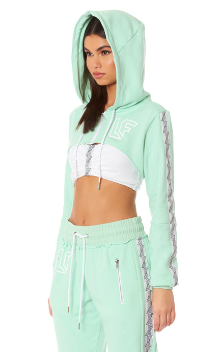 TRACKER ULTRA CROPPED ZIP UP HOODIE