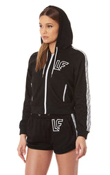 TRACKER ZIP UP JACKET WITH LF SCREEN PRINT AND TAPE