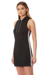 TRACKER HOODED DRESS WITH SIDE TAPE