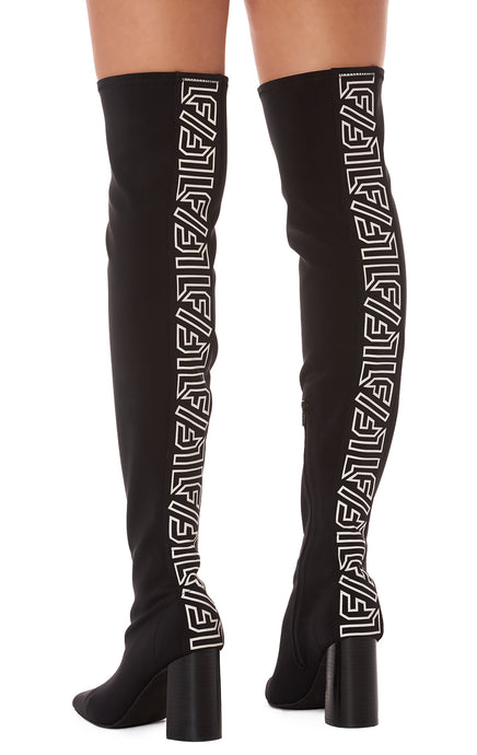 SIREN OVER THE KNEE BOOT WITH LF TAPE