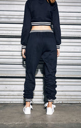 JOGGER SWEAT PANT WITH ATHLETIC RIBBING