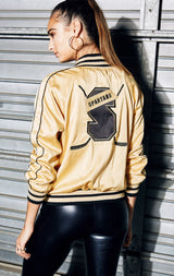 EMBROIDERED PATCH BASEBALL JACKET