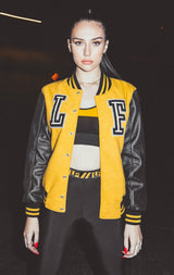 LEATHER & WOOL VARSITY JACKET