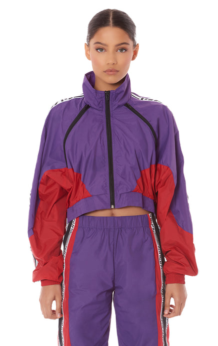 CROP THREE ZIP COLOR BLOCK WINDBREAKER