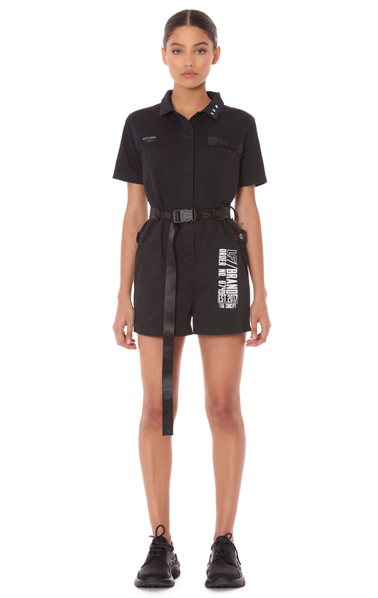 CARGO BUCKLE BELT ROMPER