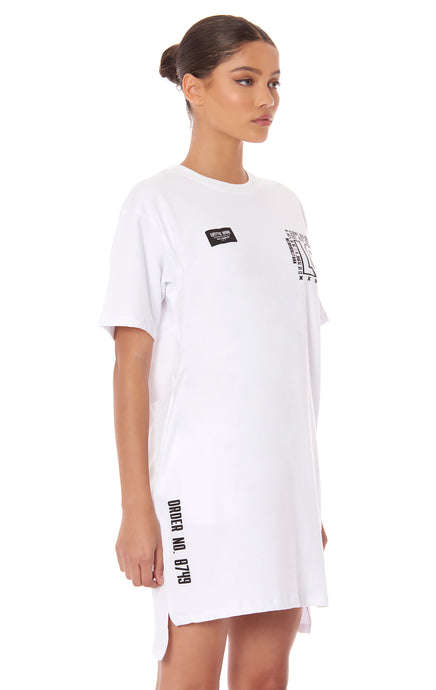 KNIT T-SHIRT DRESS WITH LF SCREEN PRINT