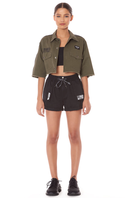 CARGO SHORT WITH LF SCREEN PRINT