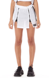 ATHLETIC MESH DOUBLE ZIP FRONT SKIRT