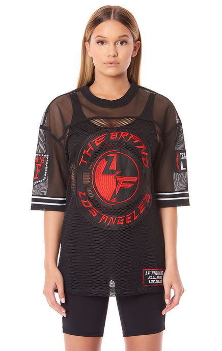 TEAM LF OVERSIZED ATHLETIC MESH JERSEY