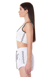 ZIP FRONT SLEEVELESS TEE WITH LF TAPE
