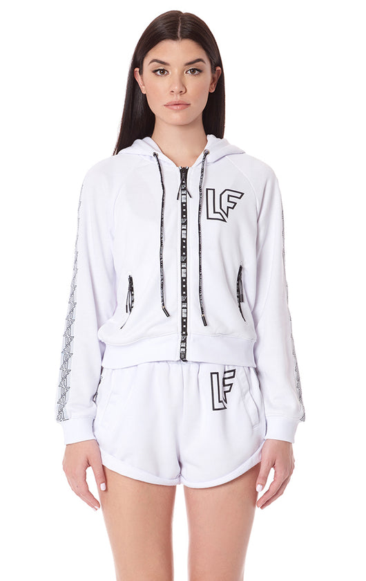 ZIP UP JACKET WITH LF SCREEN PRINT AND TAPE