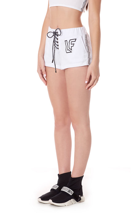 LACE UP SHORT WITH LF SCREEN PRINT AND TAPE