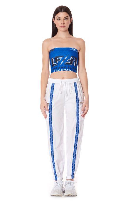 TRACK PANT WITH BLUE LF STONY TAPE