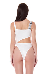 ASYMMETRICAL STRAP CUT OUT BODYSUIT