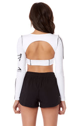 LONG SLEEVE BUCKLE FRONT TOP
