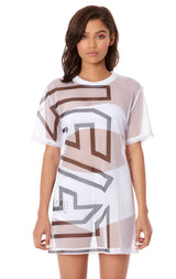 NIGHT RIDER GIANT LF SCREEN PRINT NETTING OVERSIZED SHIRT