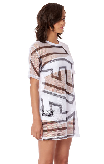 GIANT LF SCREEN PRINT NETTING OVERSIZED SHIRT