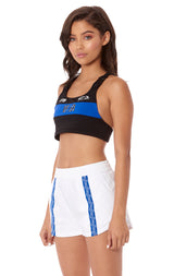 NIGHT RIDER BUCKLE STRAP SPORTS BRA